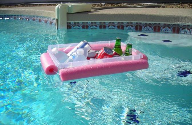 You can use them to create a floating cooler for those days at the pool.
