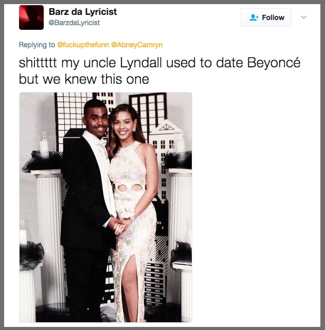 19. And this uncle who dated Beyoncé: