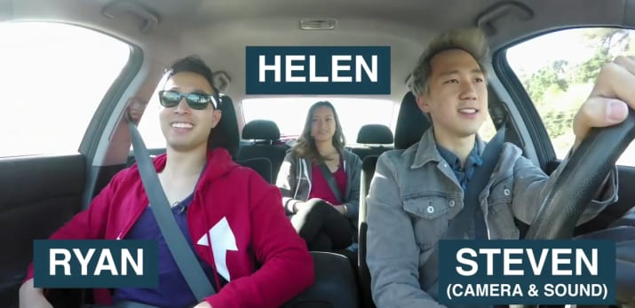 Steven decided to take Helen and Ryan (yes, Ryan from BuzzFeed Unsolved) on this magical journey with him.