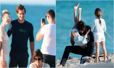 Roger Federer Caught By A Female Fan For A Selfie Whose 'Derriere' Was On A Full Display