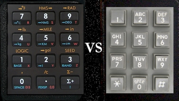Have you ever noticed that the keypads for calculators and phones are different?