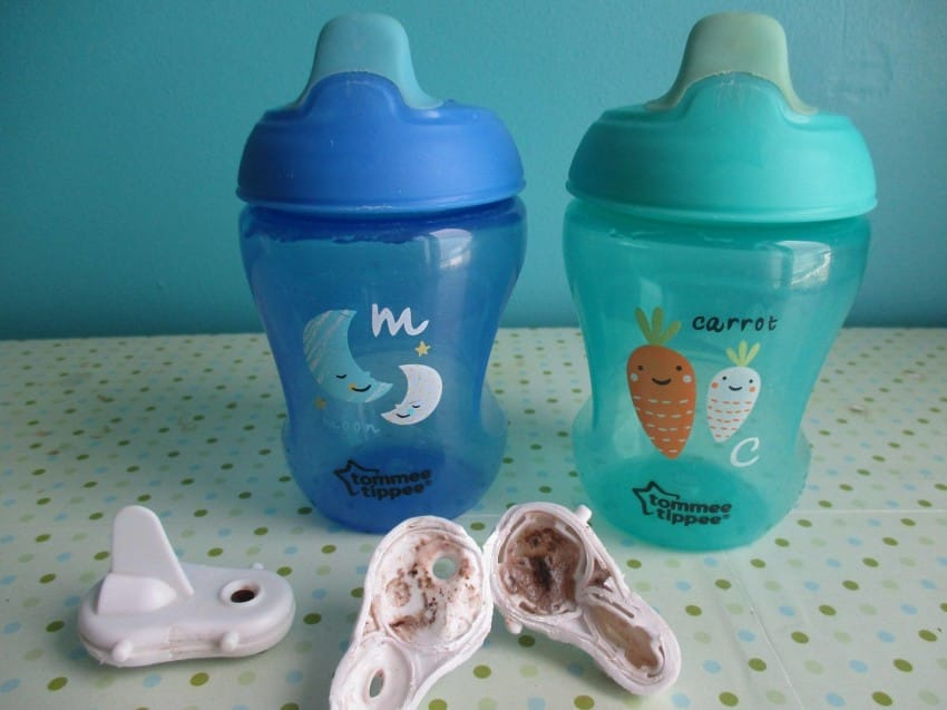 Exposure to mould is extremely unhealthy and can cause health issues such as eye irritation, breathing problems, nose and throat irritation, diarrhoea, stomach-ache and vomiting. In response the French sippy cup brand Penny used is looking into the issue.
