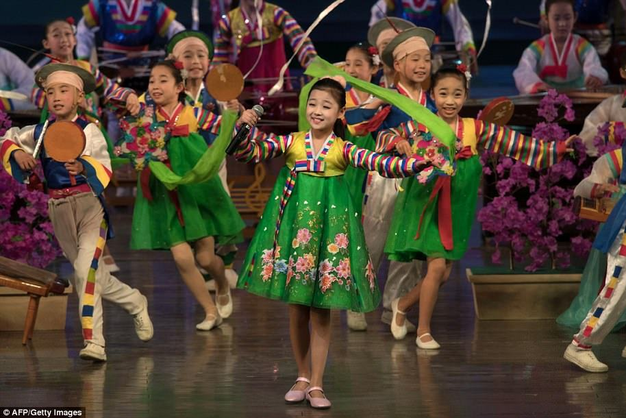 Children dancing during Sun's Day celebrations