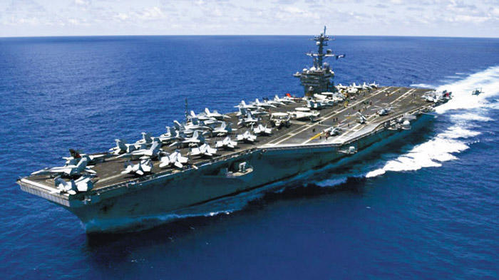 US warships headed towards Korean peninsula