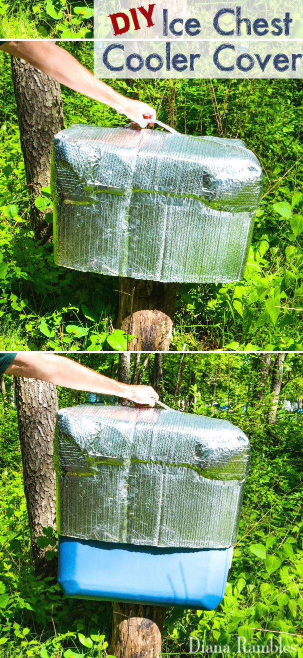23. Ice melts fast on hot days — help your cooler beat the heat with this quick-to-make cover.