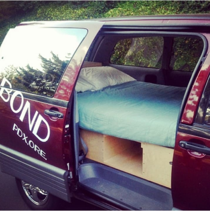 27. Feeling lazy?* Rent a van that's already outfitted with a bed and kitchen for just $60/night.
