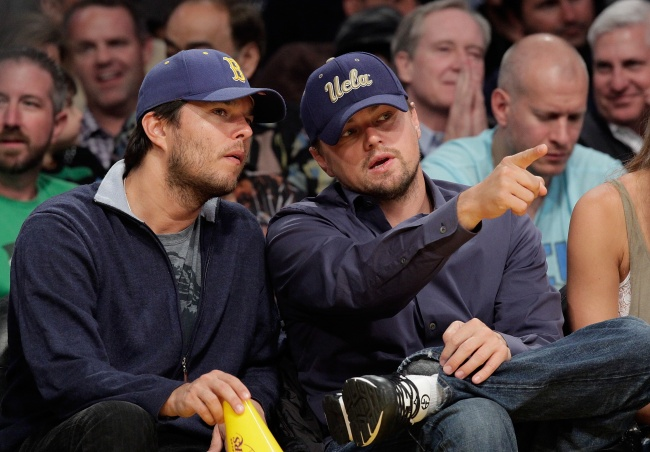 Leonardo DiCaprio with his brother Adam Farrar