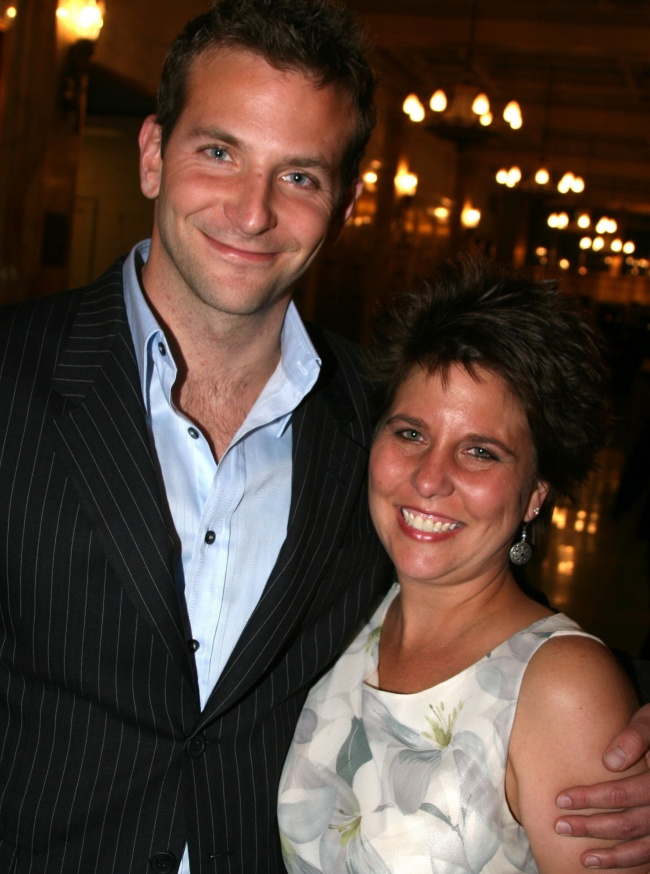 Bradley Cooper with his older sister Holly