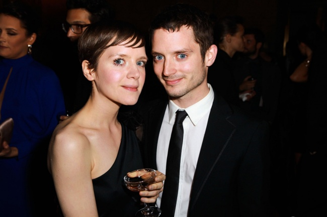 Elijah Wood with his sister Hannah