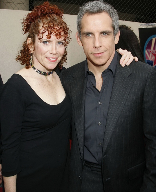 Ben Stiller with his sister Amy