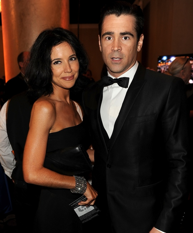 Colin Farrell with his sister Claudine
