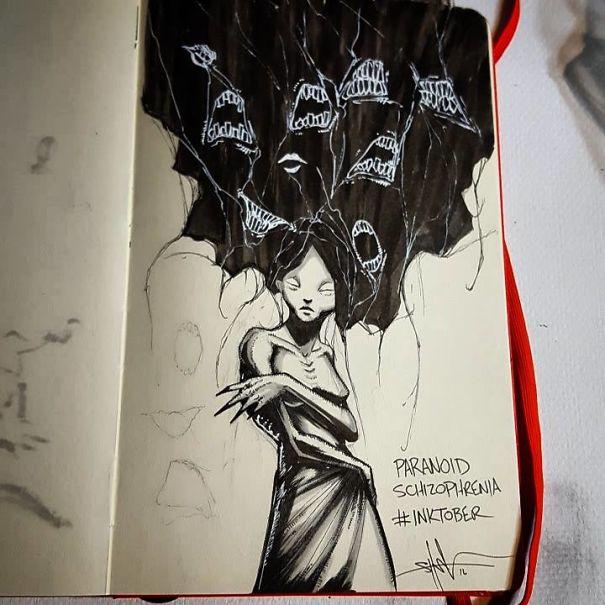 Artist With Autism Illustrates >> Viralitytoday Genius Artist Illustrates 18 Mental Illness