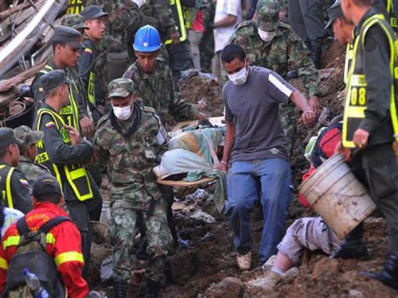 A major mudslide in Mocoa, close to the southern border of Columbia, has killed 250 people and injured more than 100 others at midnight and continuing till early morning on April 1, 2017. 210 others are feared missing.