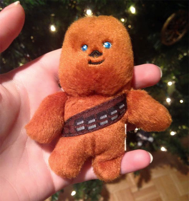 #6 We Have Been Putting This Little Chewbacca In The X-Mas Tree For Ages And I Never Really Knew Why... I Just Found Out My Mom Thinks He Is A Gingerbread Man