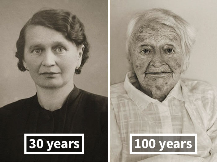#2 Anna Pochobradská, Around 30 Years Old, 100 Years Old