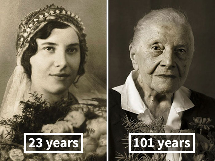 #1 Marie Burešová, 23 Years Old (Wedding), 101 Years Old