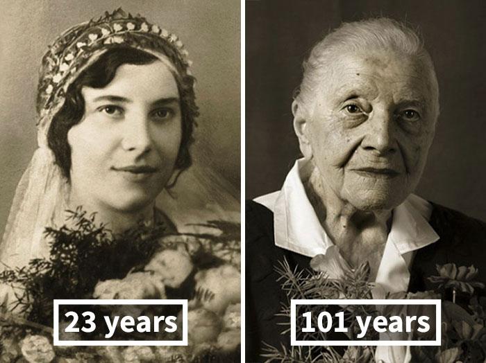#1 Marie Burešová, 23 Years Old (Wedding), 101 Years Old