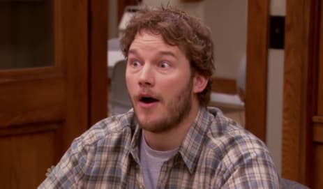 Pratt won a lot of hearts as loveable doofus Andy Dwyer on Parks and Recreation.