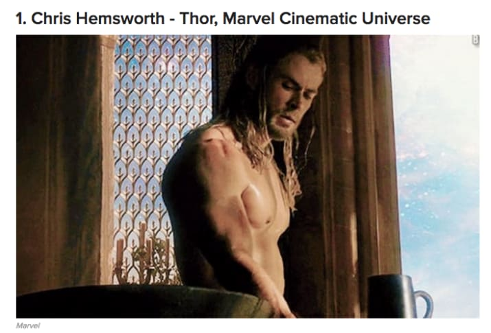 I myself, after a long, torturous analysis, weighed up all the options and came to the decision that Hemsworth was the top hot, white Chris who stars in superhero movies.