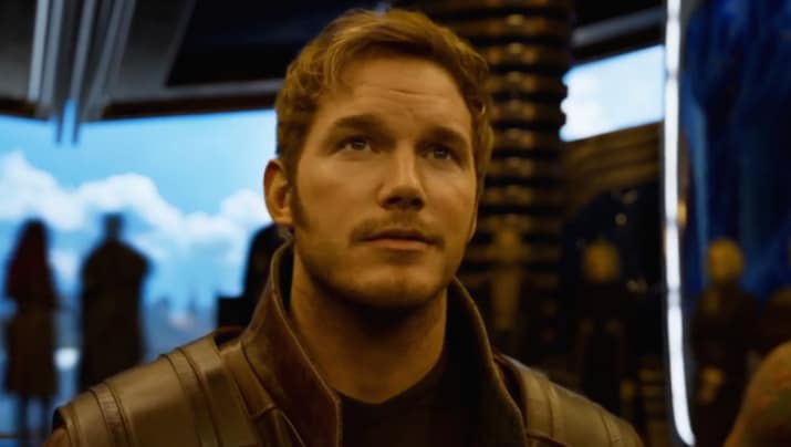 Next we have Chris Pratt, who joined the Marvel Cinematic Universe as Star-Lord in Guardians of the Galaxy.