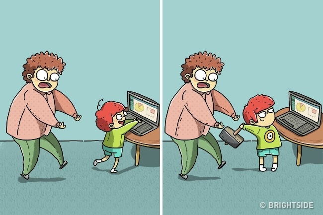 #11- When your kid notices your laptop
