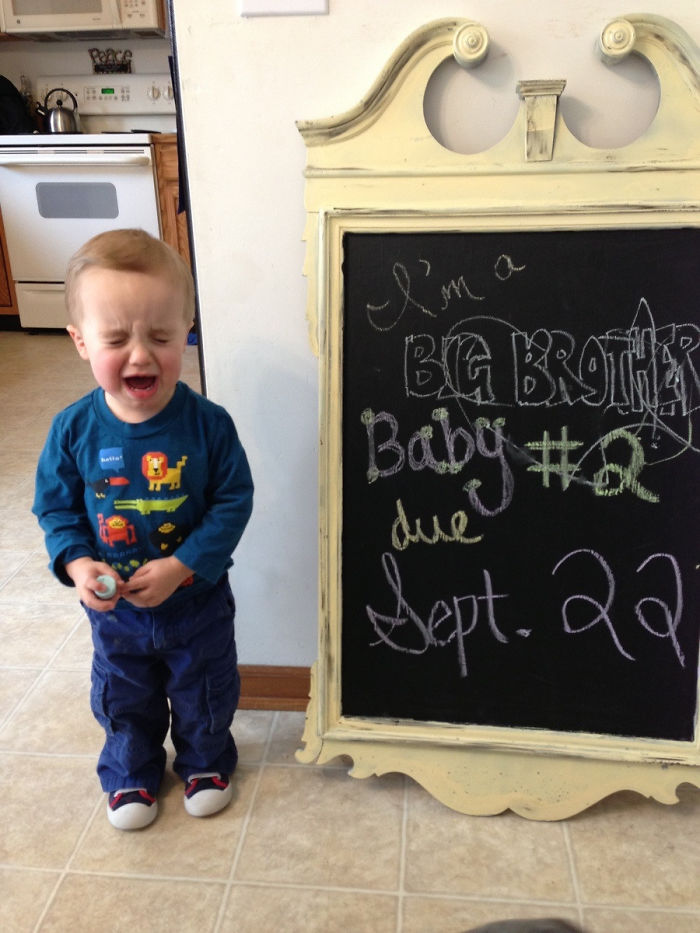 #19 My Sons Reaction After Reading The Chalkboard To Him