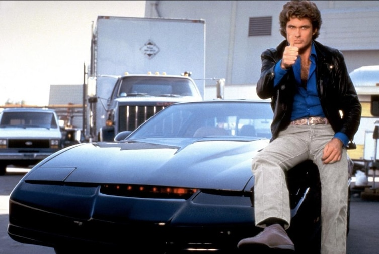 He was Michael Knight on Knight Rider where he travel alongside KITT, an AI, self-conscious computer in a car that never seemed to be ruined.