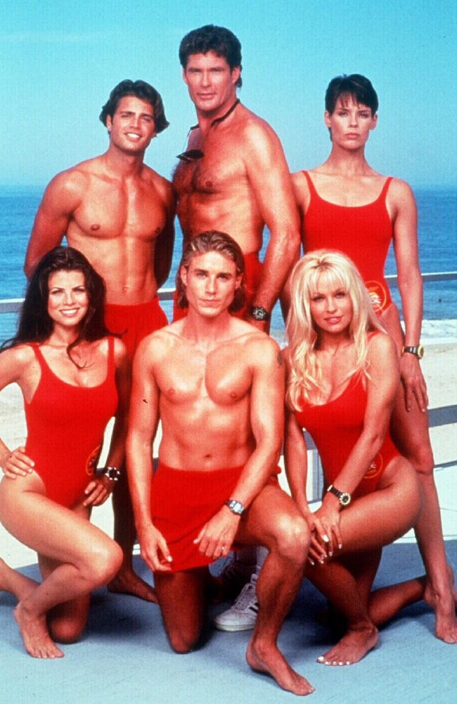 But he made his name on the sexiest show on TV: Baywatch. It ran in 1 form or another from 1989 to 2001. That's right, 12 years of the world collectively perving out...