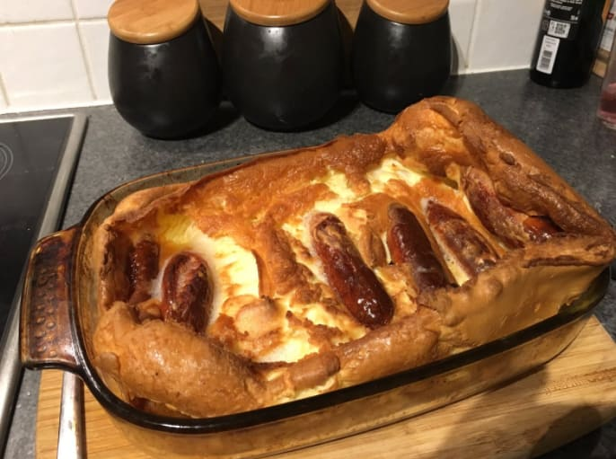7. Toad in the hole.