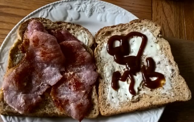 21. A bacon butty with lots of HP sauce.