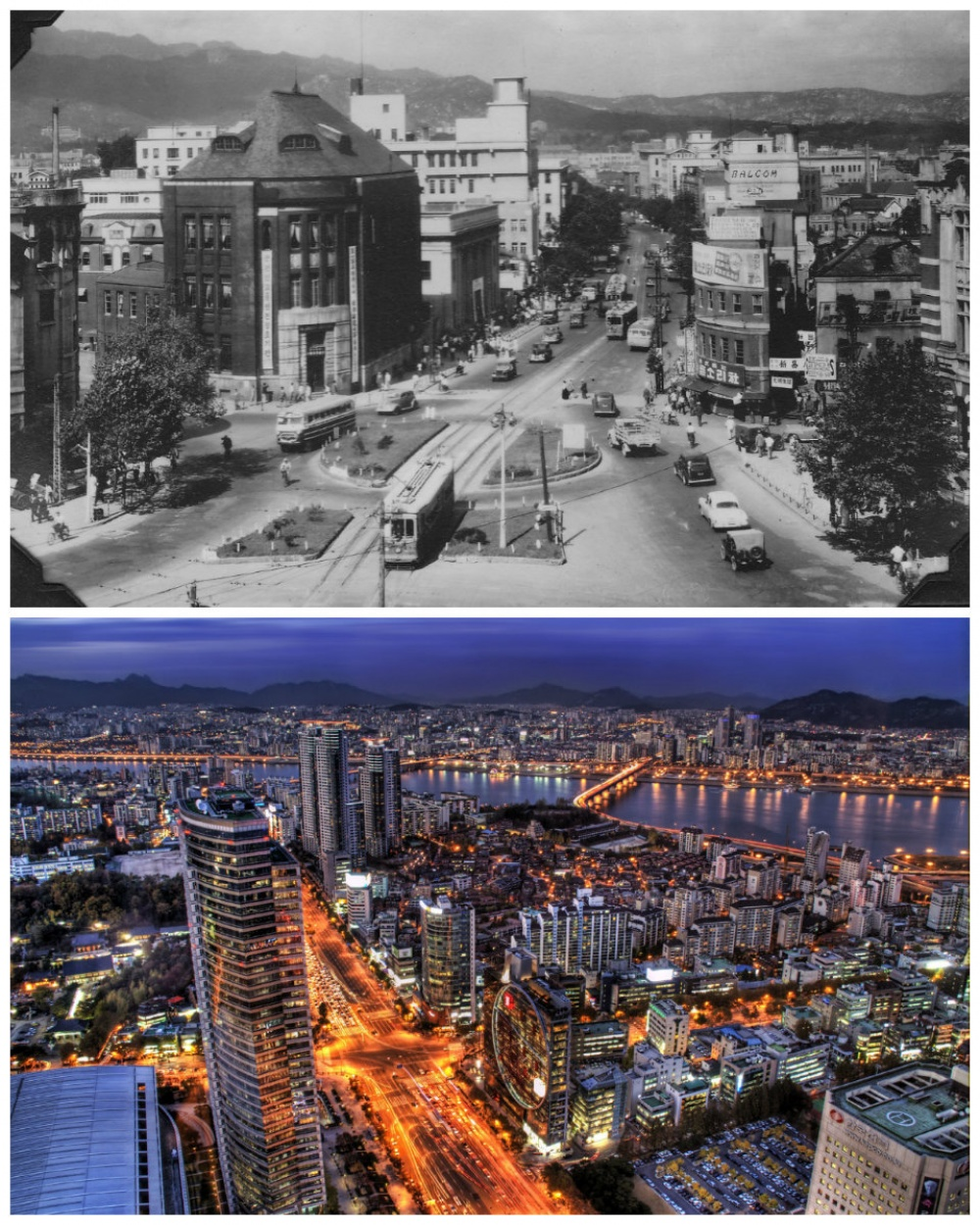 Seoul, South Korea: 1950 vs. the present day