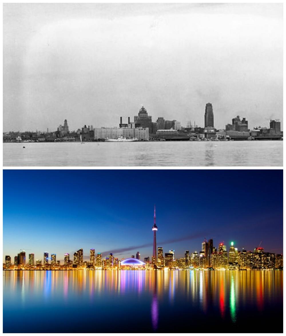 Toronto, Canada: 1930 vs. now