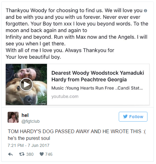 Finishing his post, Tom wrote: