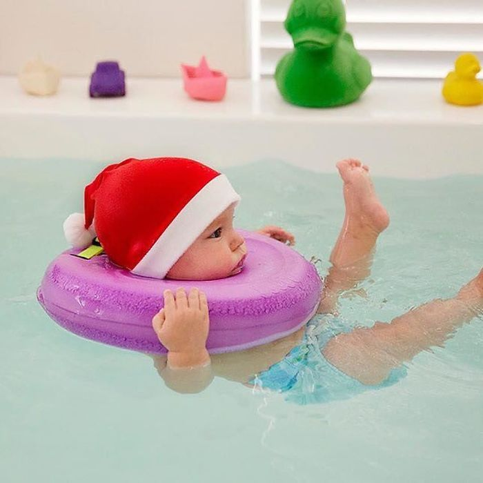 The sensations they feel while floating also prepare them for swimming lessons, and even walking