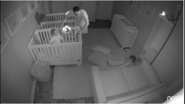 The Balkins used the Nest home monitoring system to investigate their sons' nightly activities — which included building pillow forts, doing gymnastics routines, and of course, some brother-on-brother cuddling.