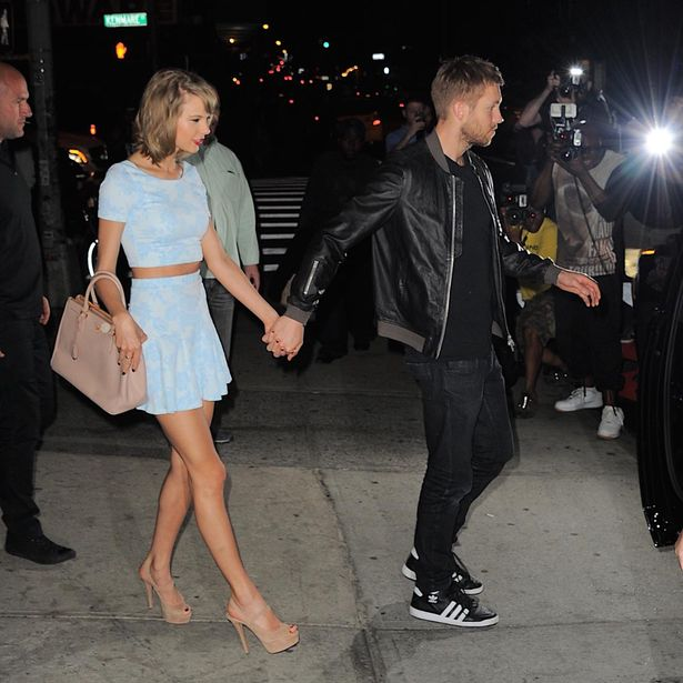 It is being said that Taylor is apparently, not happy with Calvin's.