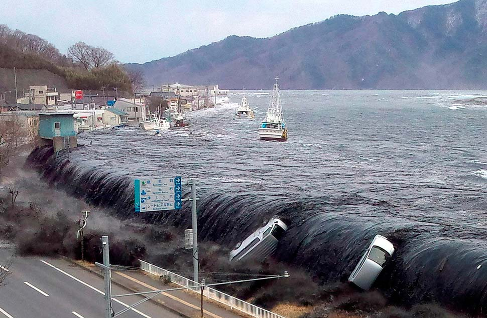 3. Japanese Tsunami in 2011