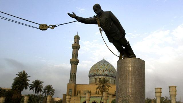 9. Destruction of Saddam Hussein's Statue