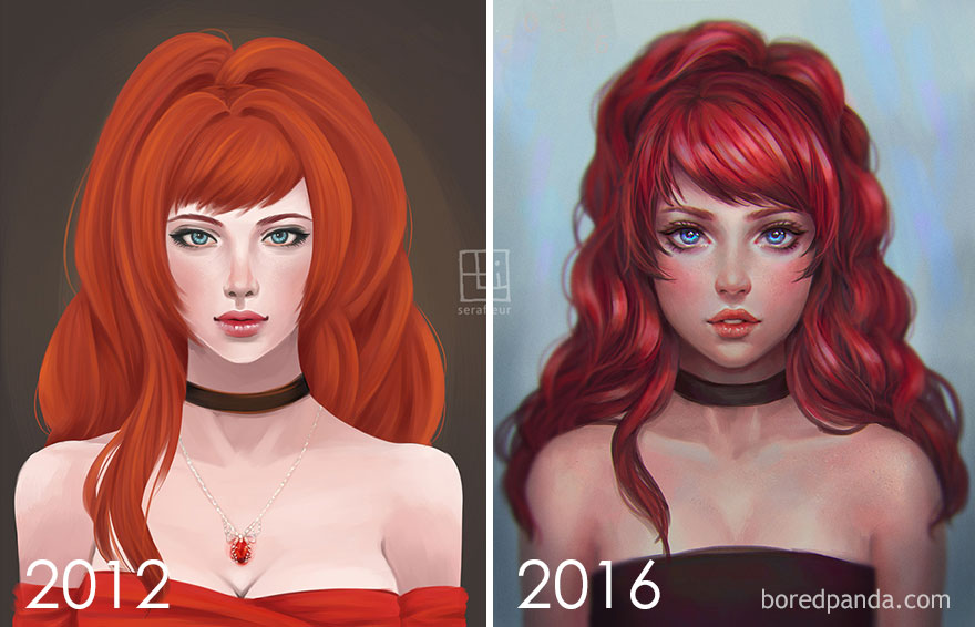4. Progression To Semi-Realistic Style By Abigail Diaz