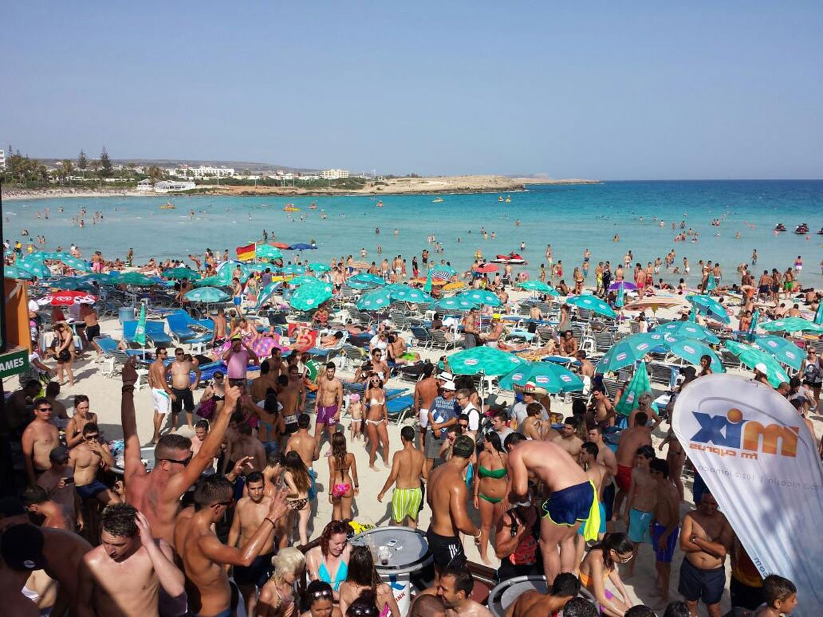 NISSI BEACH, CYPRUS: For the ideal summer party getaway, head to Nissi beach in Cyprus, where you'll find weekly foam parties, beach parties, and famous DJs spinning beats.