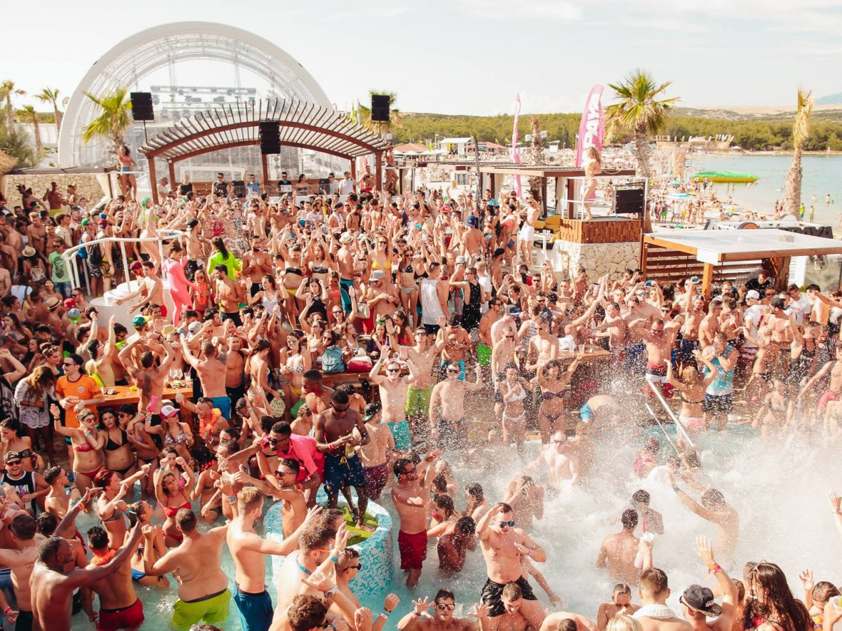 PAG, CROATIA: For wet and wild pool parties through the day, head to Pag in Croatia.