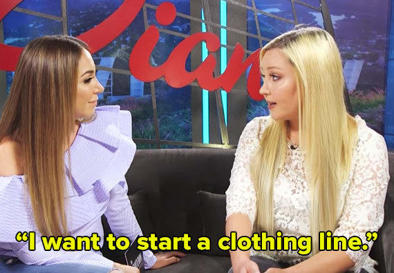 2. She's been going to FIDM (Fashion Institute of Design and Merchandising) and wants to design clothing!