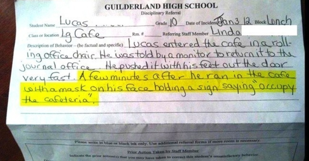 ViralityToday - 14 Hilarious Detention Slips From Kids Who ...