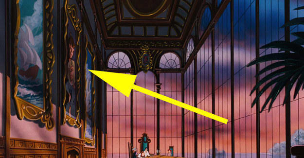 4. In The Little Mermaid, a portrait of Sleeping Beauty's Prince Phillip and Princess Aurora appears to hang in Prince Eric's dinning room.