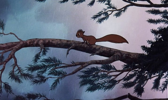 15. Wart (in squirrel form) from The Sword in the Stone can be seen in The Fox and the Hound.