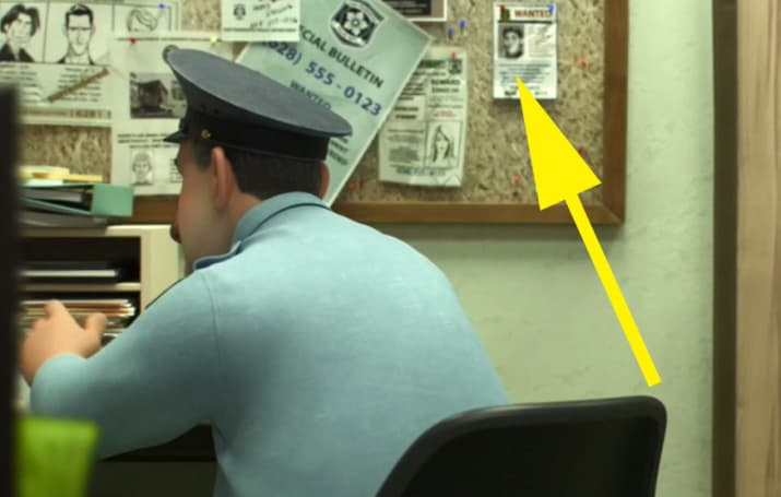 13. There is another Frozen cameo in Big Hero 6. In the police station, a wanted poster for Prince Hans can be seen in the background.