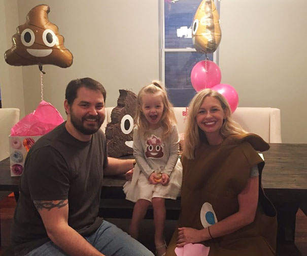 Part of being a good parent is accepting your child the way he is, so when a 3-year-old girl is asking for a poop-themed birthday party, you better deliver!