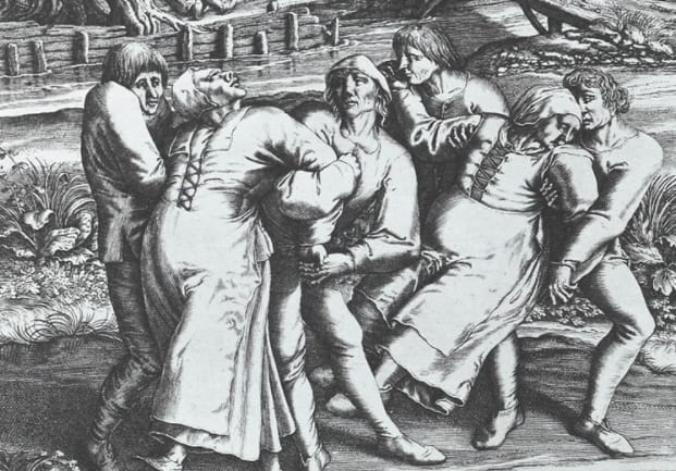 7. In 1518, there was a dancing plague where about 400 people began to involuntary dance for days on end.