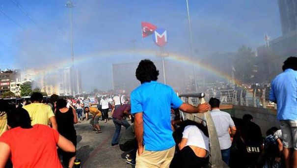 2. Police In Turkey Try To Stop Pride Parade With Water Cannons, Accidentally Creates Rainbows