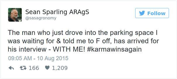 1. Karma Wins Again